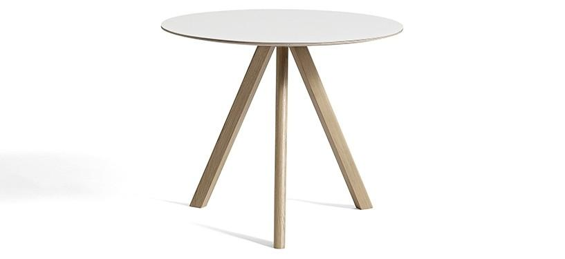 HAY Copenhague Table CPH20 · Ø90 x H74 · Eg sæbebehandlet · Laminat