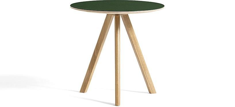 HAY Copenhague Table CPH20 · Ø50 x H49 · Eg klar lak · Linoleum