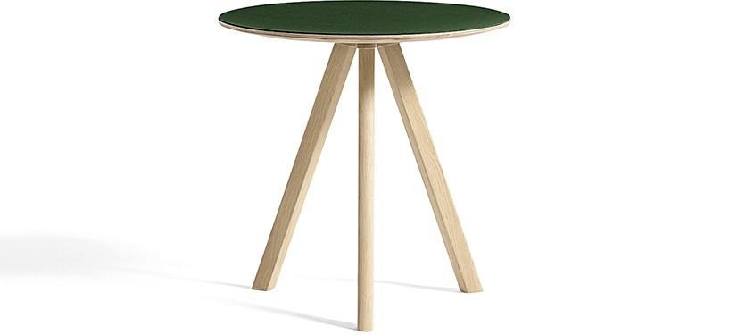 HAY Copenhague Table CPH20 · Ø50 x H49 · Eg mat lak · Linoleum