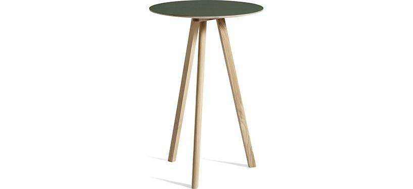 HAY Copenhague Table CPH20 · Ø70 x H105 · Eg mat lak · Linoleum