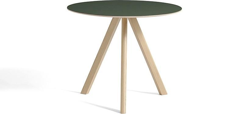 HAY Copenhague Table CPH20 · Ø90 x H74 · Eg mat lak · Linoleum