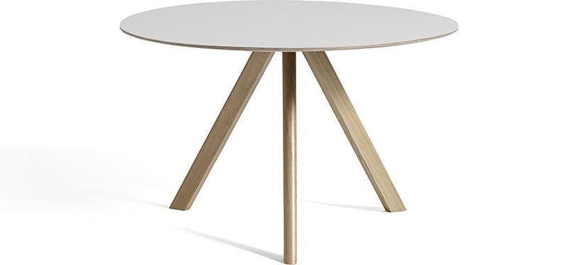 HAY Copenhague Table CPH20 · Ø50 x H49 · Eg sæbebehandlet · Linoleum