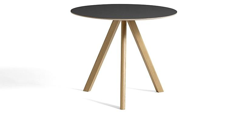 HAY Copenhague Table CPH20 · Ø120 x H74 · Eg mat lak · Linoleum