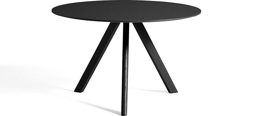 HAY Copenhague Table CPH20 · Ø50 x H49 · Eg sortbejdset · Linoleum