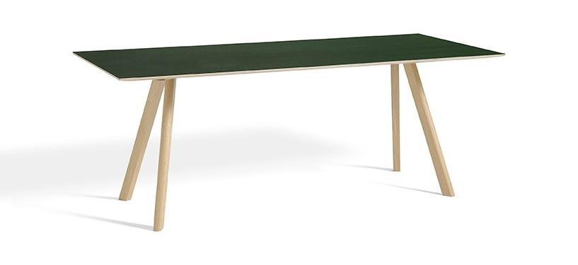 HAY Copenhague Table CPH30 · L200 x B90 x H74 · Eg mat lak · Linoleum