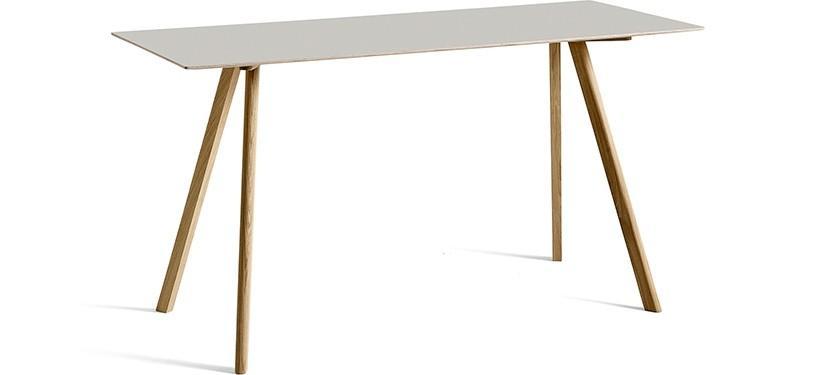 HAY Copenhague Table CPH30 · L200 x B80 x H105 · Eg mat lak · Linoleum