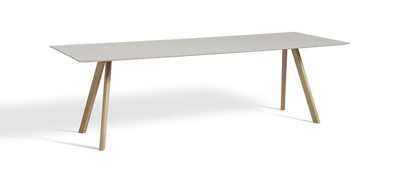HAY Copenhague Table CPH30 · L250 x B90 x H74 · Eg klar lak · Linoleum