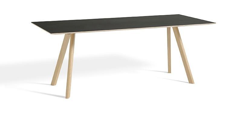 HAY Copenhague Table CPH30 · L250 x B90 x H74 · Eg mat lak · Linoleum