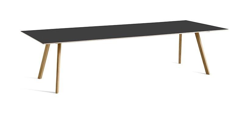 HAY Copenhague Table CPH30 · L200 x B90 x H74 · Eg sortbejdset · Linoleum