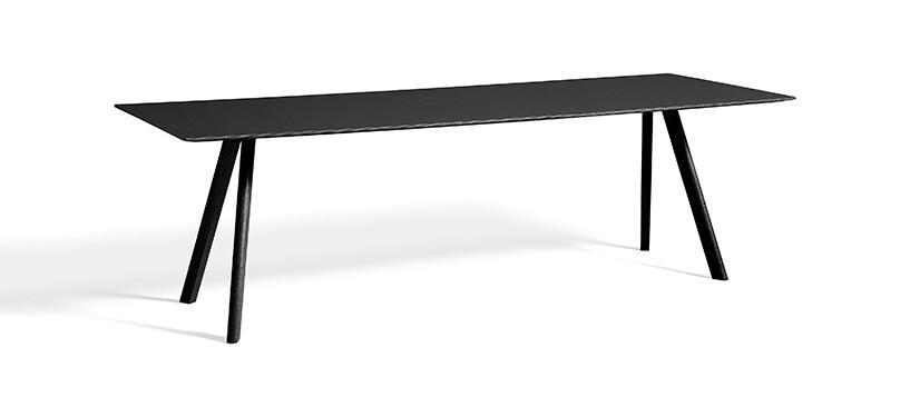 HAY Copenhague Table CPH30 · L250 x B90 x H74 · Eg sortbejdset · Linoleum