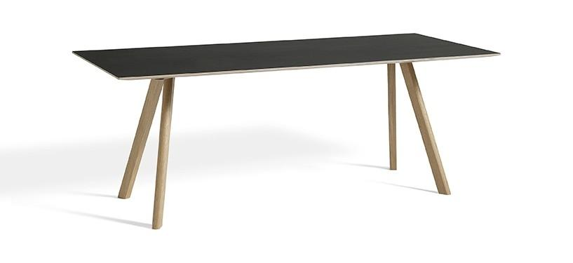 HAY Copenhague Table CPH30 · L200 x B90 x H74 · Eg sæbebehandlet · Linoleum