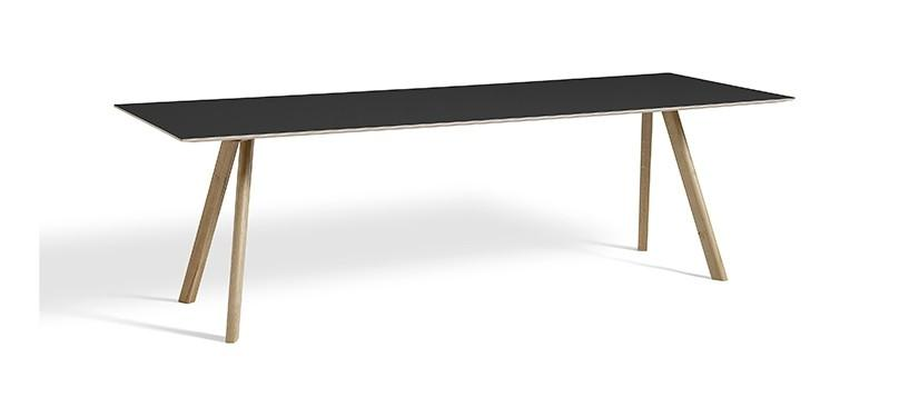 HAY Copenhague Table CPH30 · L250 x B90 x H74 · Eg sæbebehandlet · Linoleum