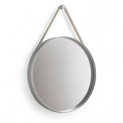 HAY Strap Mirror · Grey · Ø50