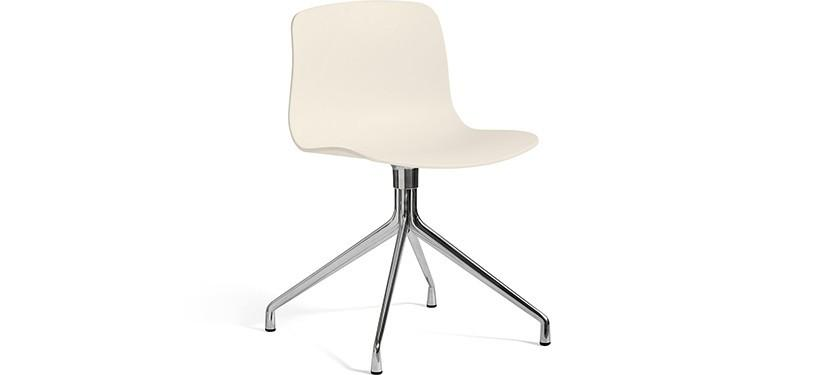 HAY About a Chair AAC10 · Cream white · Aluminium