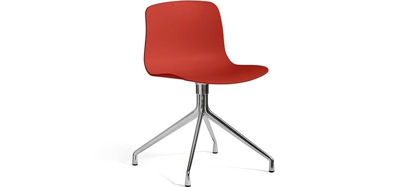 HAY About a Chair AAC10 · Warm red · Aluminium