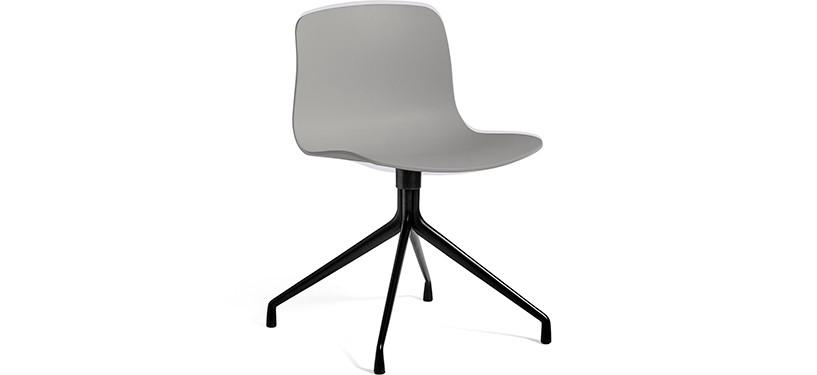 HAY About a Chair AAC10 · Concrete grey · Black