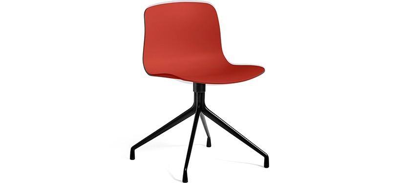 HAY About a Chair AAC10 · Warm red · Black