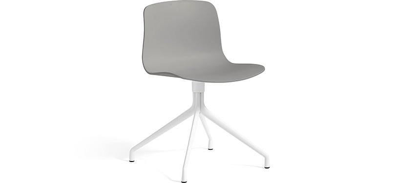 HAY About a Chair AAC10 · Concrete grey · White