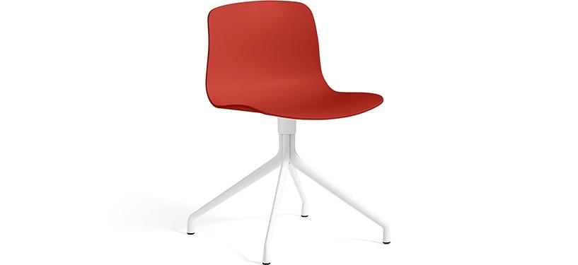 HAY About a Chair AAC10 · Warm red · White