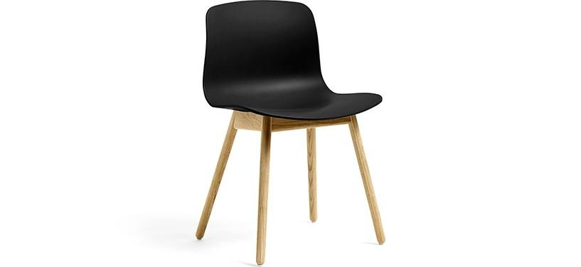 HAY About a Chair AAC12 · Black · Eg klar lak