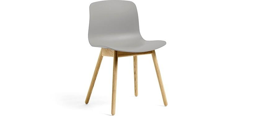 HAY About a Chair AAC12 · Concrete grey · Eg klar lak