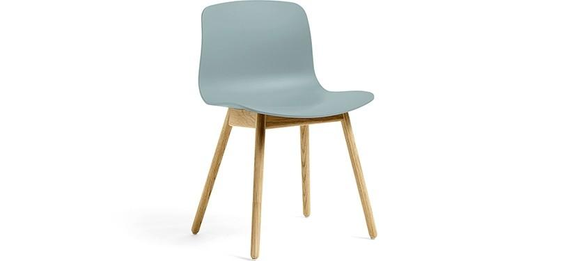HAY About a Chair AAC12 · Dusty blue · Eg klar lak