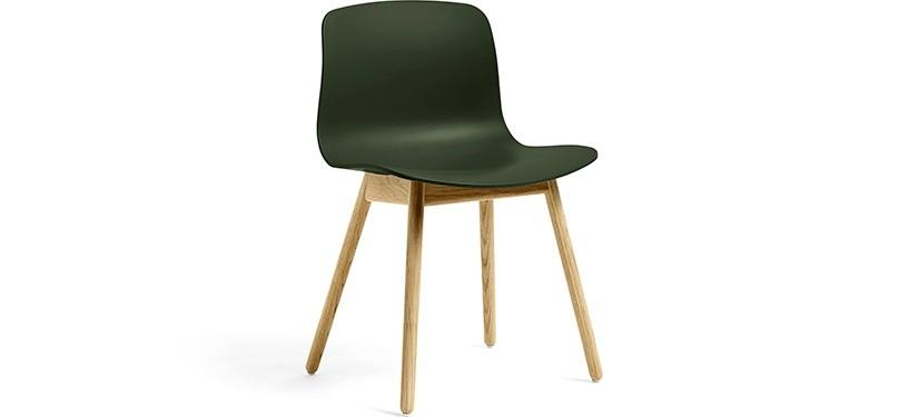HAY About a Chair AAC12 · Green · Eg klar lak