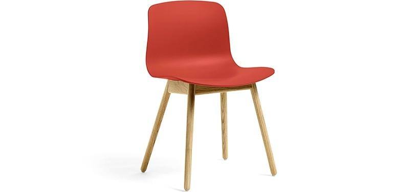 HAY About a Chair AAC12 · Warm red · Eg klar lak