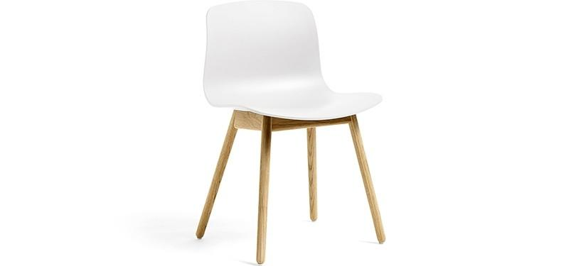 HAY About a Chair AAC12 · White · Eg klar lak