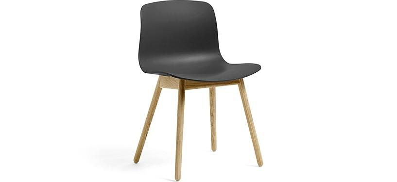 HAY About a Chair AAC12 · Soft black · Eg mat lak