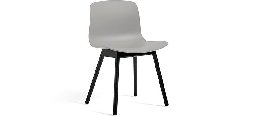 HAY About a Chair AAC12 · Concrete grey · Eg sortbejdset