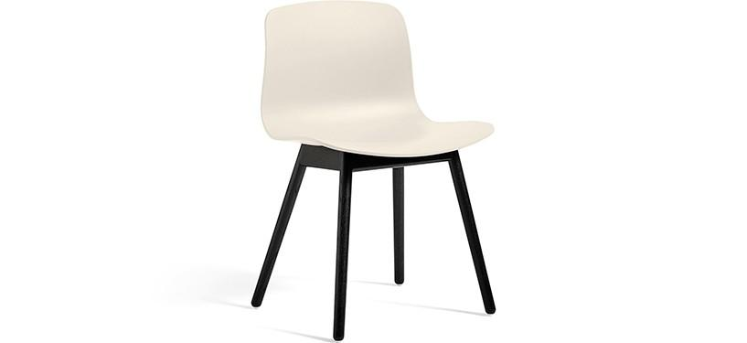 HAY About a Chair AAC12 · Cream white · Eg sortbejdset
