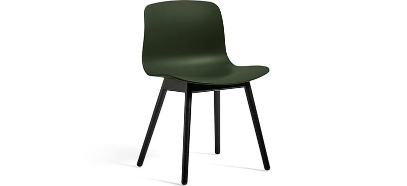 HAY About a Chair AAC12 · Green · Eg sortbejdset