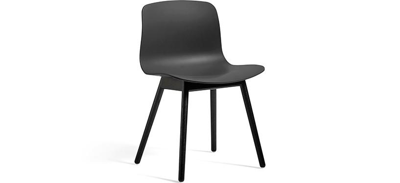 HAY About a Chair AAC12 · Soft black · Eg sortbejdset