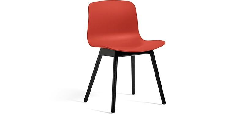 HAY About a Chair AAC12 · Warm red · Eg sortbejdset