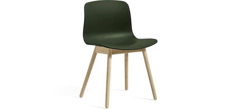 HAY About a Chair AAC12 · Green · Eg sæbebehandlet
