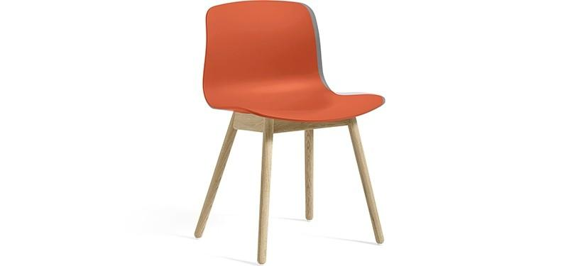 HAY About a Chair AAC12 · Orange · Eg sæbebehandlet