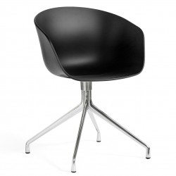 HAY About a Chair AAC20 · Black · Aluminium
