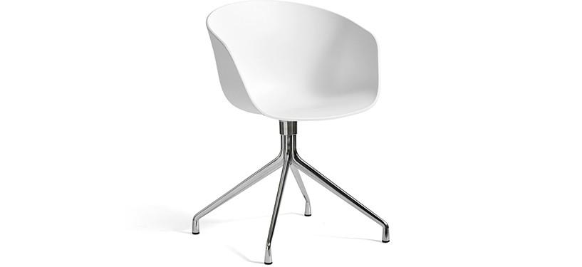 HAY About a Chair AAC20 · White · Aluminium