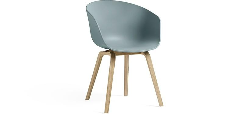 HAY About a Chair AAC22 · Dusty blue · Eg mat lak