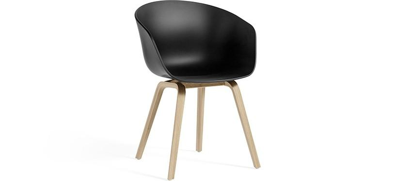 HAY About a Chair AAC22 · Black · Eg mat lak