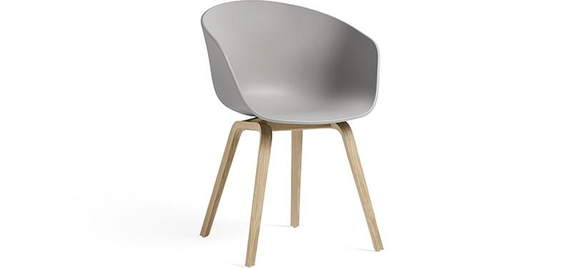 HAY About a Chair AAC22 · Concrete grey · Eg mat lak