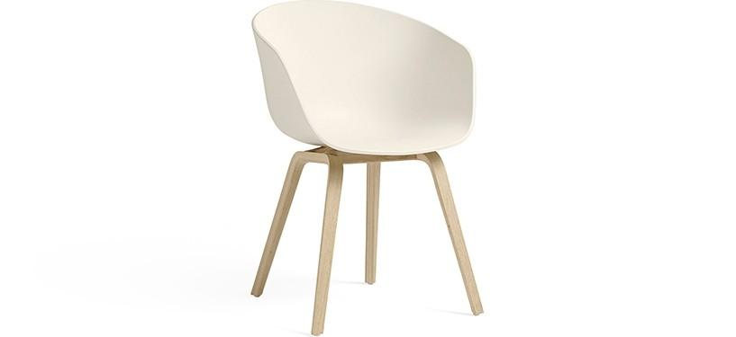 HAY About a Chair AAC22 · Cream white · Eg mat lak