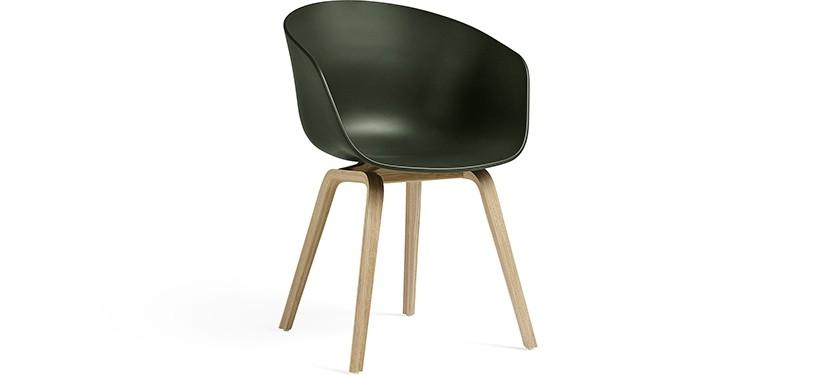 HAY About a Chair AAC22 · Green · Eg mat lak