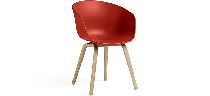 HAY About a Chair AAC22 · Warm red · Eg mat lak