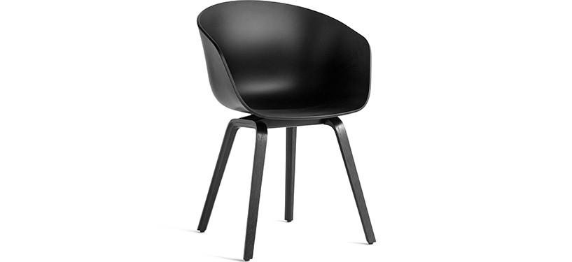HAY About a Chair AAC22 · Black · Eg sortbejdset