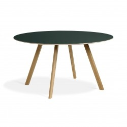HAY Copenhague Table CPH25 · Eg klar lak · Linoleum