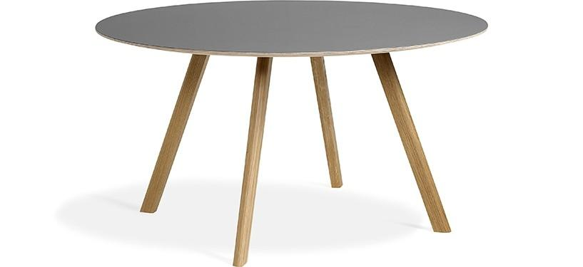 HAY Copenhague Table CPH25 · Eg klar lak · Linoleum