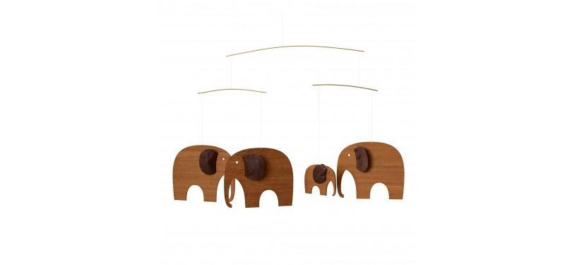 Flensted Mobiles Elefantkomsammen, teak