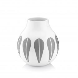 Lucie Kaas Hvid/Grå Lotus Vase